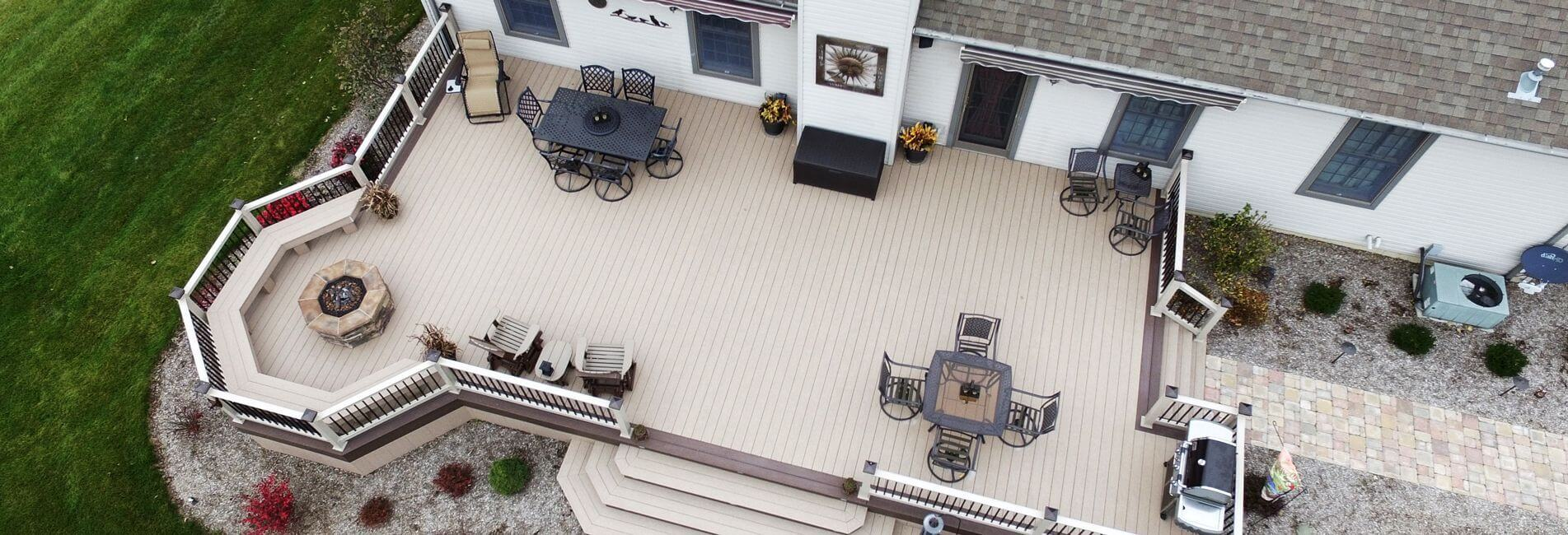 Outdoor Vinyl Decks & Patios by Mount Hope Fence of Ohio
