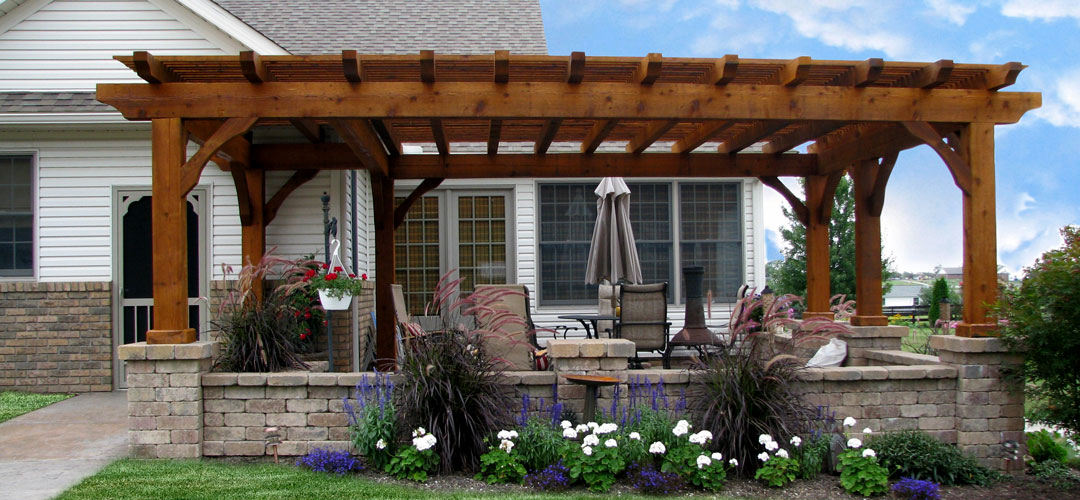 Amish Cedar Or Vinyl Pergolas Canopies Mt Hope Fence