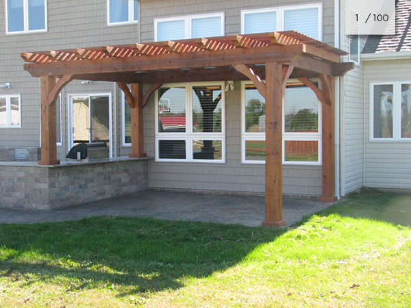 Amish Cedar Pergolas Vinyl Furniture Mt Hope Fence In Ohio