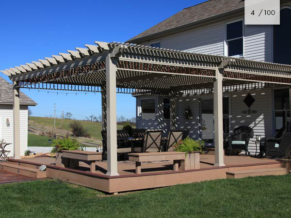Amish Vinyl Pergolas Vinyl Furniture Mt Hope Fence In Ohio