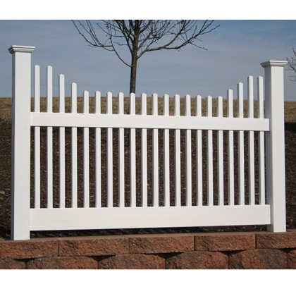 Courtyard Picket Vinyl Fence Contractor Mt Hope Fence