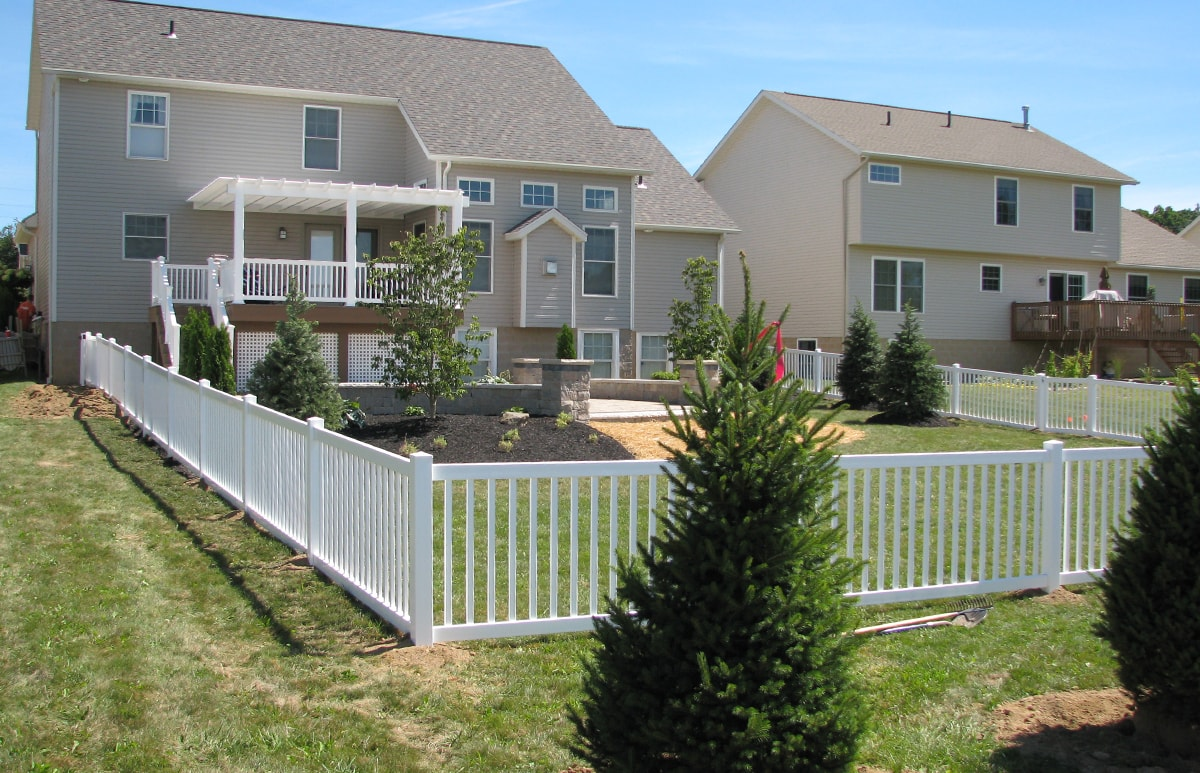 Two Rail Vermont Universal Vinyl Picket Fence Mt Hope Fence