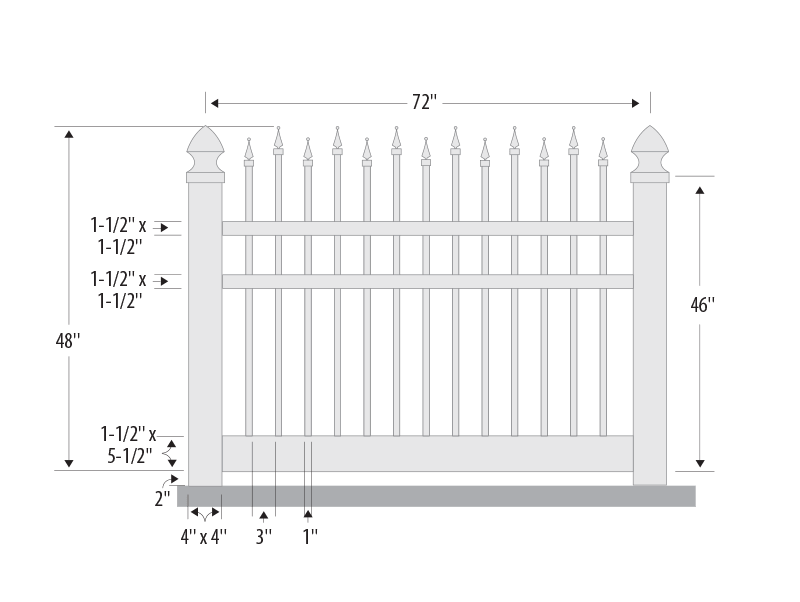 Ornamental Picket Vinyl Fence Contractor Mt Hope Fence