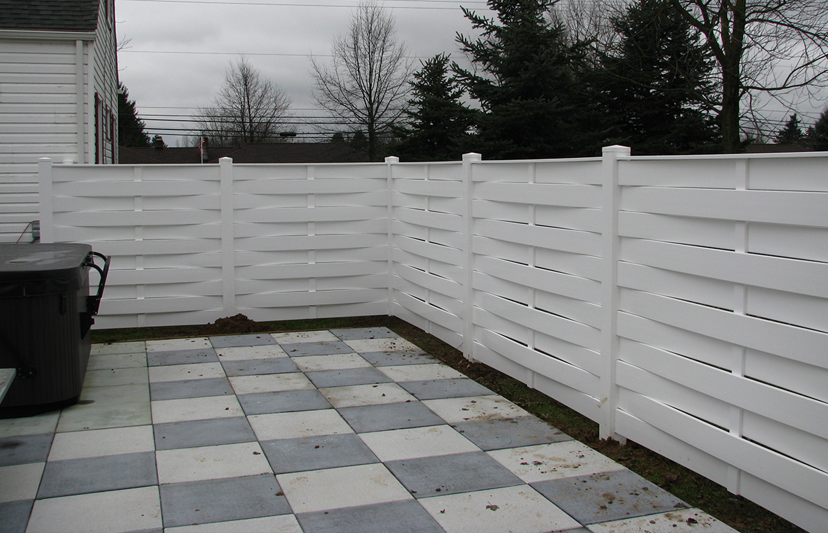Basket Weave Semi Privacy Fence Contractor Mt Hope Fence