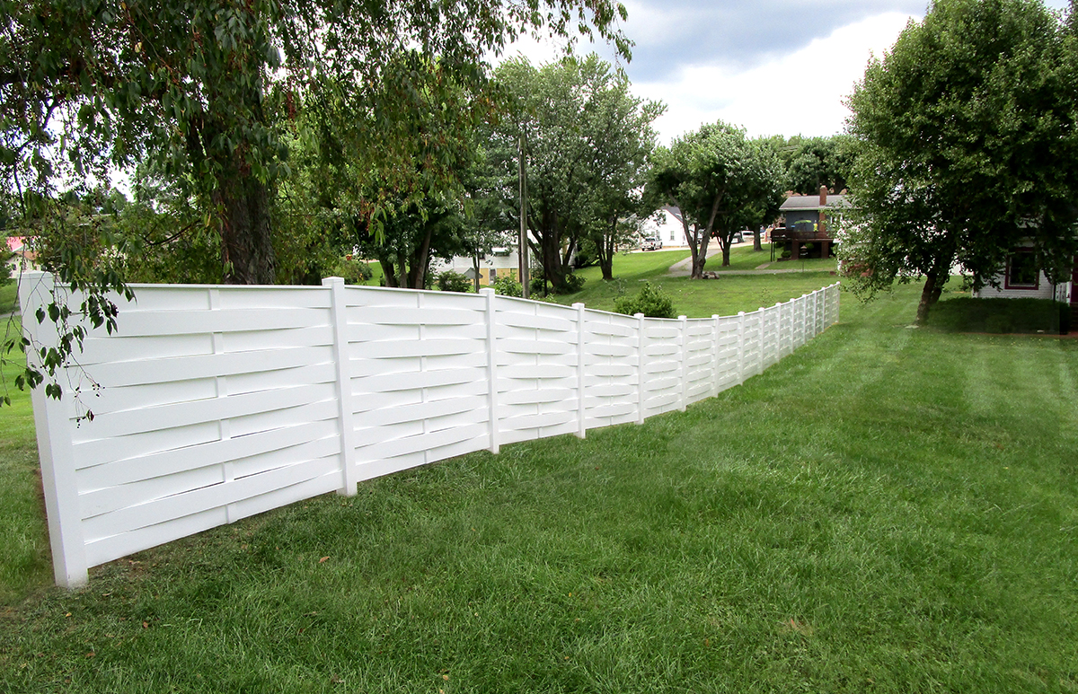 Basket Weave Semi Privacy Fence Contractor Mt Hope