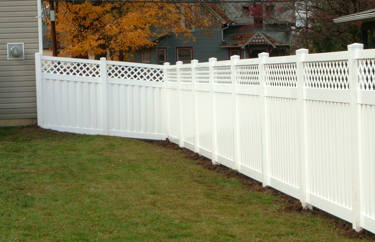 Lattice Top Panel Privacy Fence Contractor Mt Hope Fence