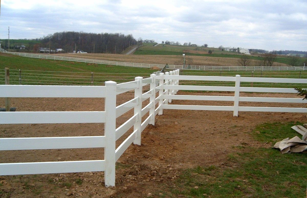 Four Rail Ranch Fence Contractor Mt Hope Fence In Ohio